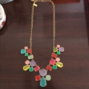 Kate spade pastel  jeweled statement necklace